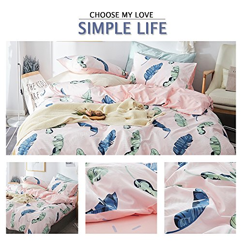 HIGHBUY Feather Printed Pattern Duvet Cover Sets