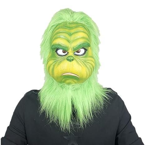 1Buy Cara de Fusión de la Navidad Látex Friki Monstruo Verde ...