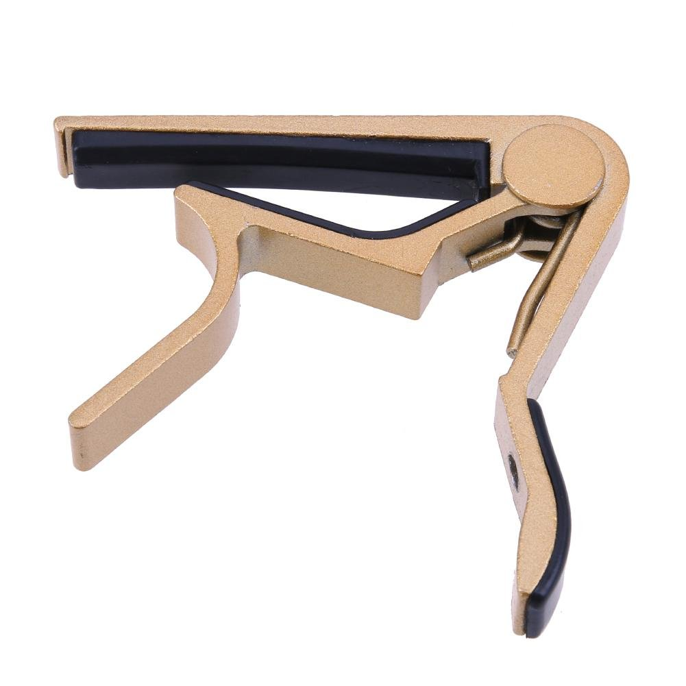 Everpert Alliage Tune Clamp Key Trigger Capo pour guitare électrique acoustique (Or)