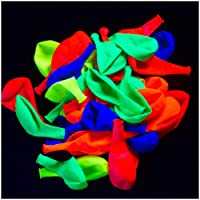 Glow King UV Blacklight Reactive Fluorescent / Neon Glow Party Balloons - 100-Pack