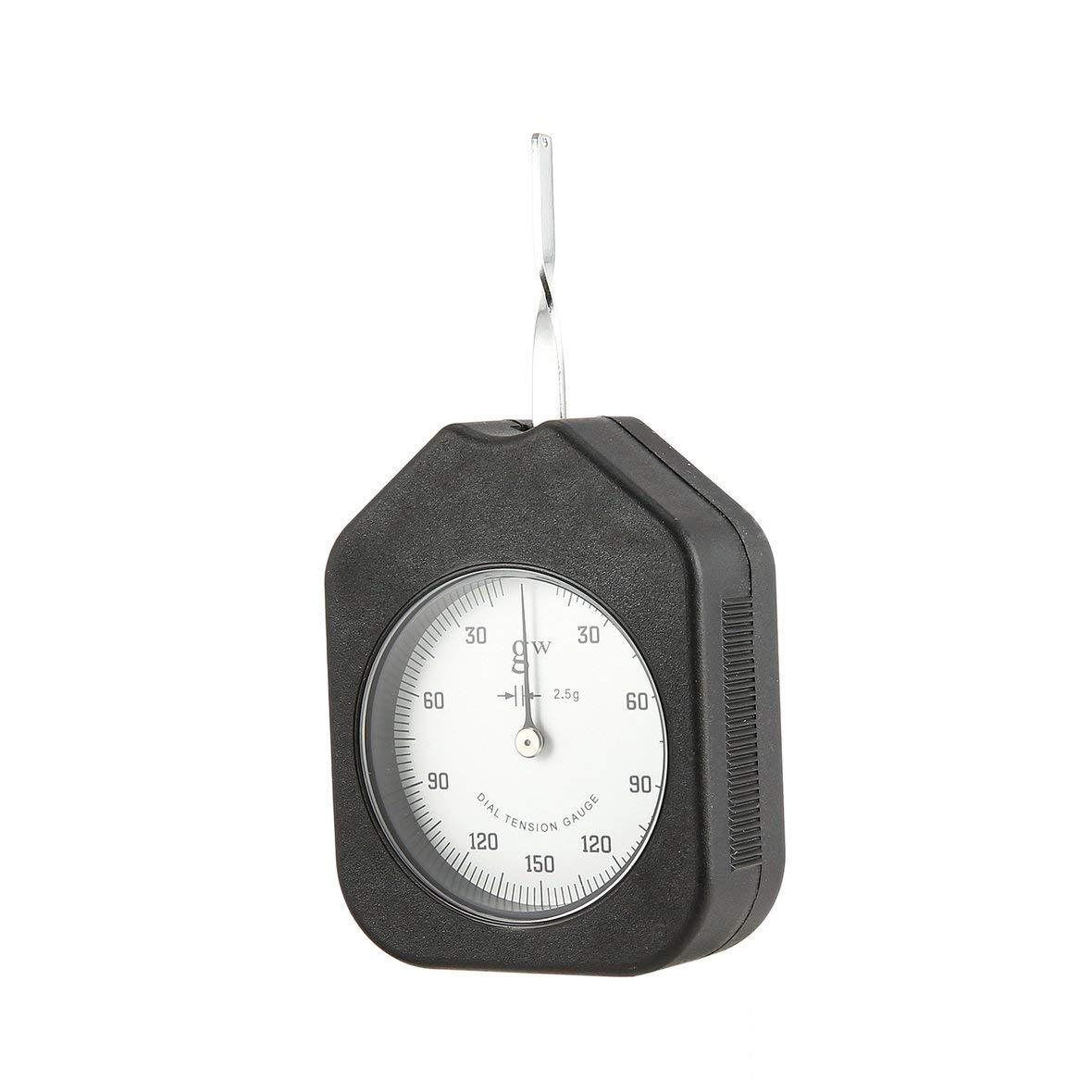 Heaviesk 150g Tensiómetro analógico Precio con un Solo Puntero Dial Medidor de tensión Medidor Probador Dinamómetro tabular Medidor de tensión Lateral: ...