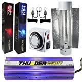 THUNDER (TM) Starter Kit Light Digital Dimmable HPS MH Grow Light System for Plants with Thunder 6-Inch Cool Tube with Reflector - 5 Year Manufacturer Warranty (400 - Watt Ballast, 2 Bulb (HPS & MH))