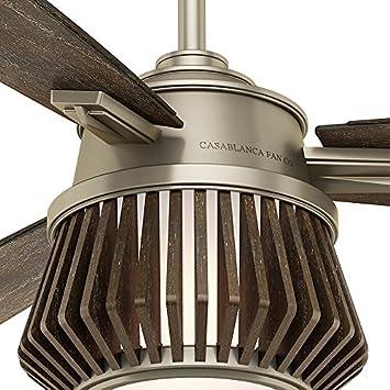 Casablanca 59163 Glen Arbor Indoor Ceiling Fan with Remote, Medium, Metallic Birch
