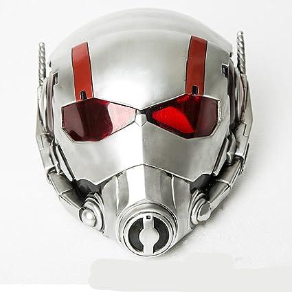Costore ANT-Man Antman Halloween Fashion casco PVC máscara la protección de cristal Steel Helmet