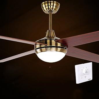 ventilador de techo luces Ventilador antiguo control remoto de la lámpara LED luz del ventilador del ventilador remoto restaurante: Amazon.es: Iluminación