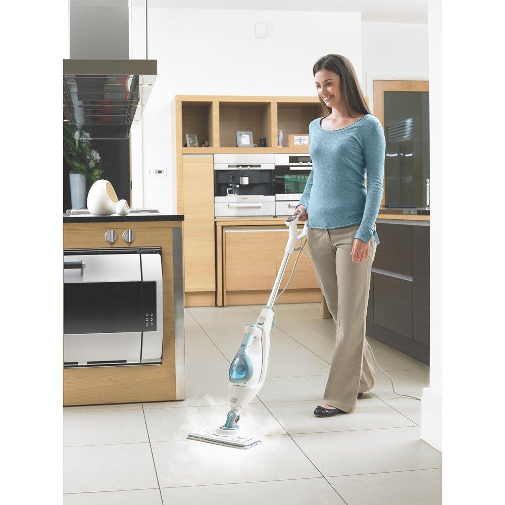 Mop Kitchen Floor Amazoncom Black Decker Bdh1855sm 10 In 1 Steam Mop With Fresh