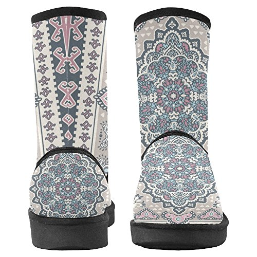 InterestPrint Womens Snow Boots Unique Designed Comfort Winter Boots Multi 24 o87Gp