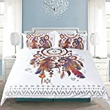 Sleepwish Hippy Feather Dream Catcher Bedding Set India Ethnic Dreamcatcher Duvet Cover Boho Chic Duvet Cover (King)