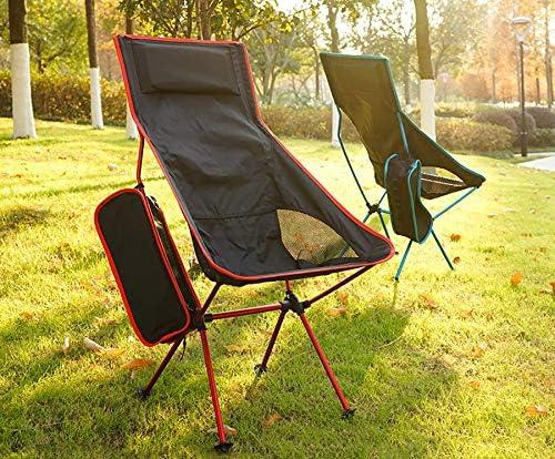 FDCL Chaise de Camping Dossier de Plage Chaise de Loisirs de pêche Pliable léger Voyage en Plein air Portable Sac à Dos Chaise Longue