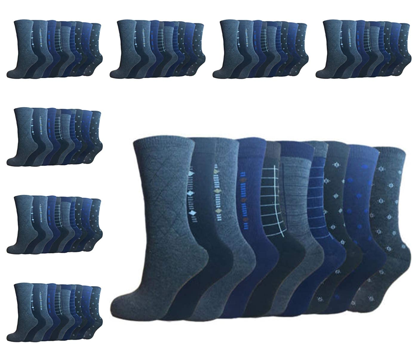 Cotton Rich Poly Cotton Mens Socks Size 6-11 5 And 12 Pairs Designer Mens Socks