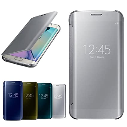 promo code c0cc0 fd897 Samsung Clear View Cover for Galaxy S6 Edge (Silver)