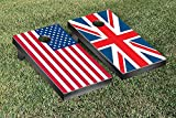 US & UK Flag Cornhole Game Set