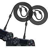 [2 Pack 10FT] 6amLifestyle PS4 Controller Charging Cable, Charge and Play, Micro USB Charger High Speed Data Sync Cord…