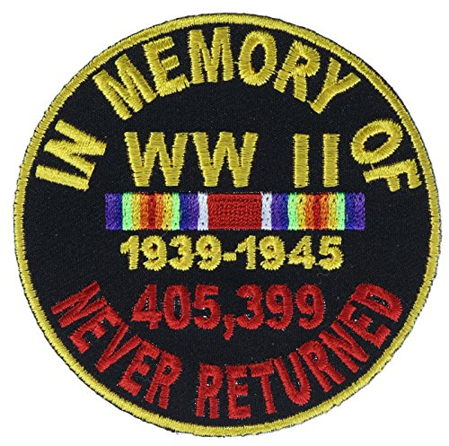 WWII In Memory of Never Returned Biker Patch 3 inch - Memory Wwii