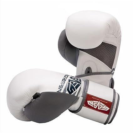 Siete americano de guante de boxeo, Unisex Infantil, blanco
