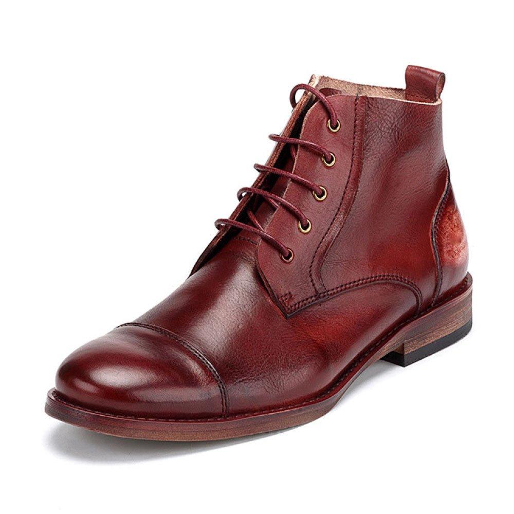 ZPFDY Männer Herbst Britisch Lässige Kleidung Martin Stiefel Mode Jugend Spitze Lederstiefel