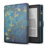 """TNP Case for Kindle 8th Generation - Slim & Light Smart Cover Case with Auto Sleep & Wake for Amazon Kindle E-reader 6"""" Display, 8th Generation 2016 Release (Almond Blossom - Van Gogh)"""