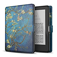 "TNP Case for Kindle 8th Generation - Slim & Light Smart Cover Case with Auto Sleep & Wake for Amazon Kindle E-reader 6"" Display, 8th Generation 2016 Release (Almond Blossom - Van Gogh)"