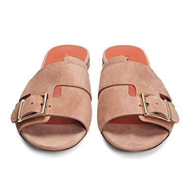 1131c66c2e617 Flat Sandals for Women 2019 Summer Ladies Slides Open Toe Slip On Shoes (US: