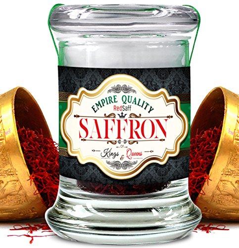 Redsaff Afghan Saffron Threads (250 plus grade A) Empire Quality, Organically Grown, Non GMO, Vegan Saffron (.35 once, 10 grams) by Redsaff Saffron (Image #2)