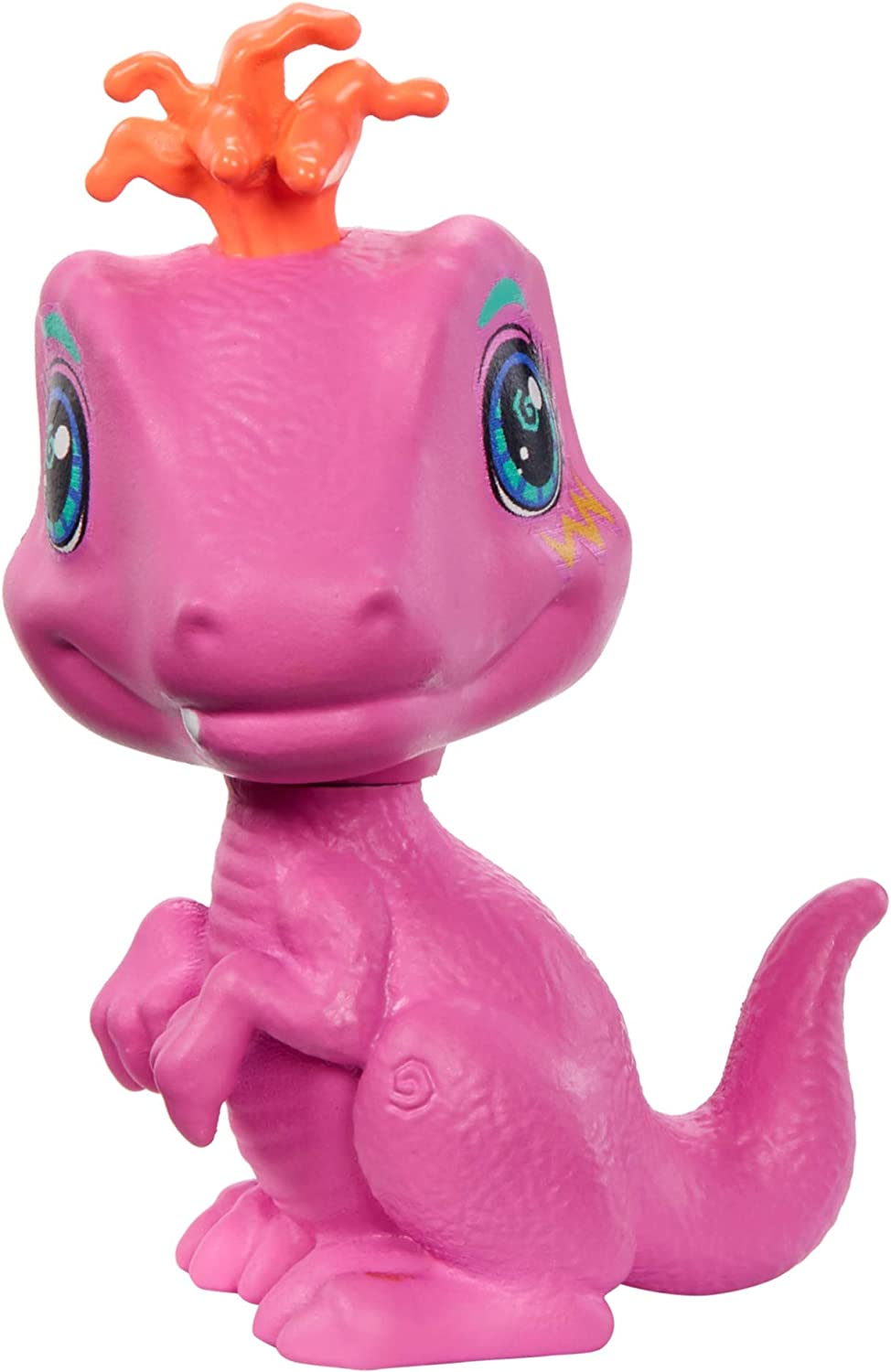 Gift for 4 Year Olds and Up Mattel Cave Club Emberly Doll Exclusive 10-inch, Pink Hair Poseable Prehistoric Fashion Doll with Dinosaur Pet and Accessories