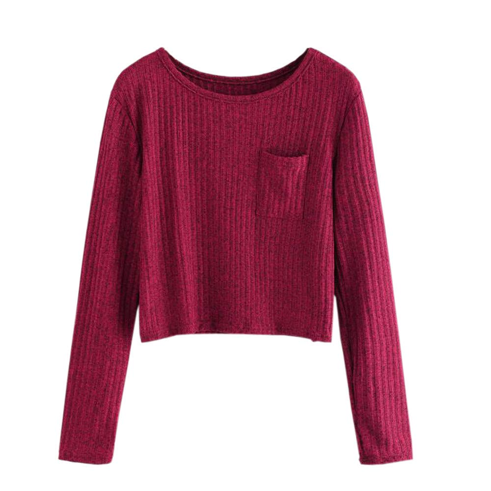Kapuzenpullover Damen Julywe Fashion Long Sleeve O Neck Pocket Sweatshirt Casual Bluse Pullover Julywe Sweatshirt