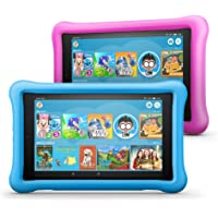 """All-New Fire HD 8 Kids Edition Tablet 2-Pack, 8"""" HD Display, 32 GB, Kid-Proof Case - Blue/Pink"""