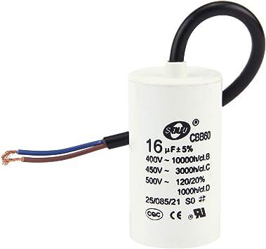 Vococal CBB60 16uF Condensador SH 50 / 60Hz de Funcionamiento del ...