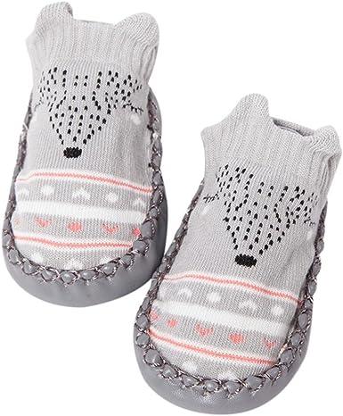4 pairs Baby Girl Boy Anti-slip Socks Striped Newborn Slipper Shoes Boots 0-24M