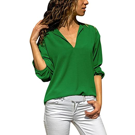 736db4f250f3a Image Unavailable. Image not available for. Color  Women Blouse Ladies Tops  ...