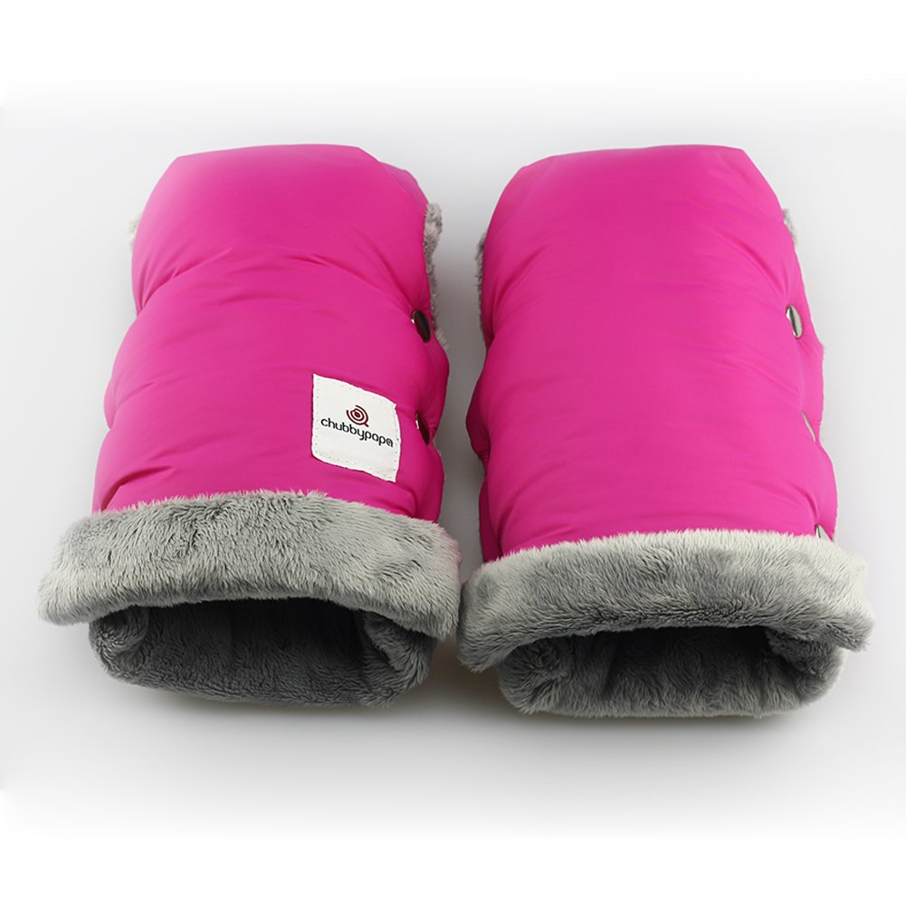 cochecito Manoplas calientes * * Super Soft Muff Guantes gruesos con forro polar t/érmico * Impermeable y resistente al viento * Tama/ño universal para cochecito de beb/é etc rosa