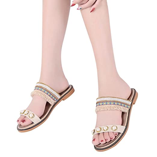 eae017b01c8310 Amazon.com  TOTOD Women Shoes Women Solid Crystal National Style ...