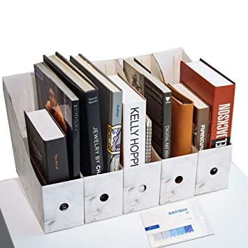 CAVEEN Revistero Archivador de la Oficina Cartón Caja de Almacenamiento con Cédula Organizador de Documentos Papelería Revista Lápices Accesorios de ...