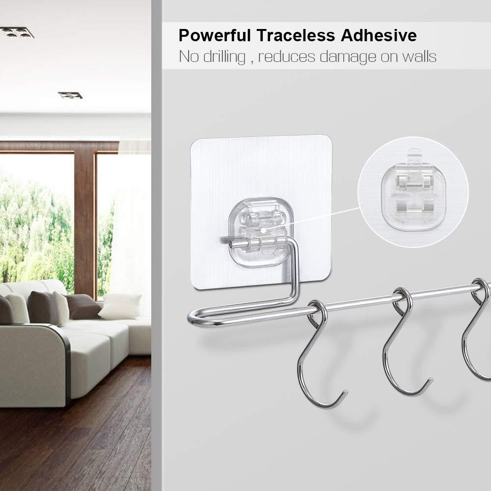 Amazon.com: E-Gtong - Estante para utensilios con 6 ganchos ...