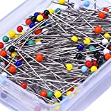 250 Pieces Sewing Pins Ball Glass Head Pins