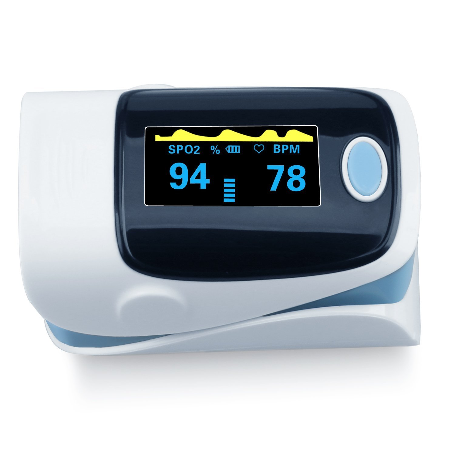 OLG- Our Life Guardian Portable Pulse Oximeter Instant Read Digital Display Fingertip Oxygen and Pulse Sensor with Alarm SPO2 For Home, Hospital