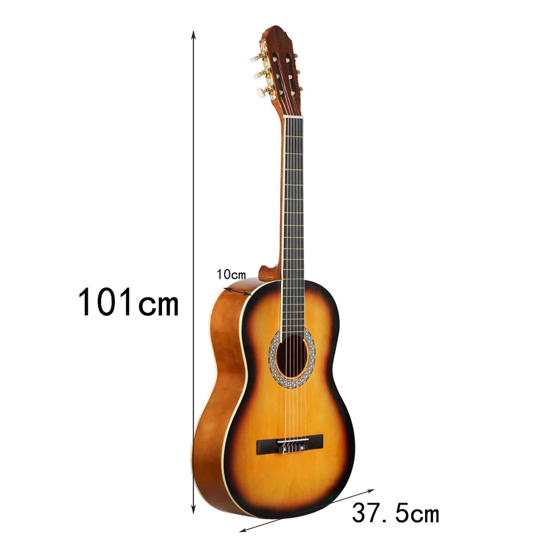 SEAME Guitarra clásica de 39 pulgadas, 6 cuerdas, para niños ...