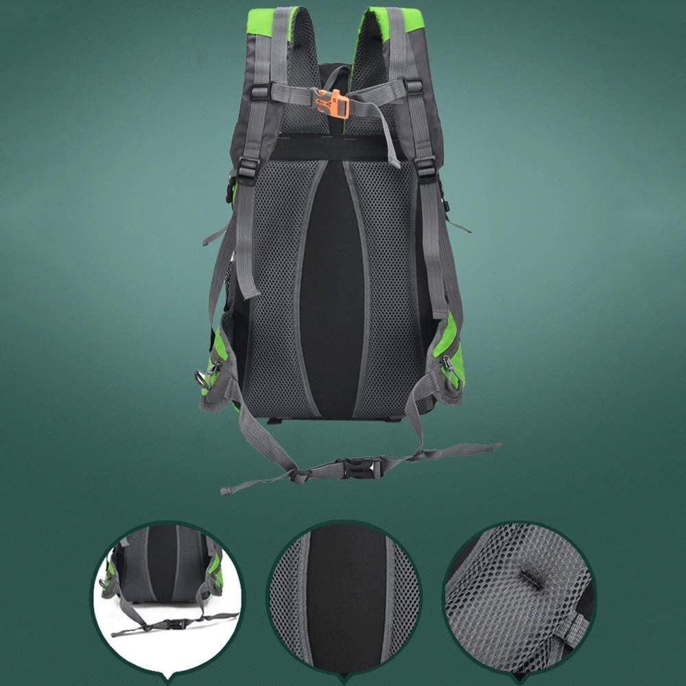 Water Resistant Camping Trekking Traveling Rucksack Large College Laptop Daypack Holiday Outdoor Sports for Men Women,Black KUNNGG Color : Purple Empty 40L Outdoor Hiking Backpack