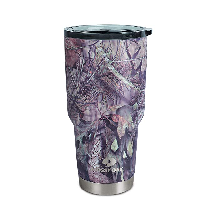 457db1b4112 Amazon.com: MOSSY OAK Stainless Steel Camo Tumbler - 30 Oz Double Wall  Vacuum Insulated Coffee Cup - Travel Mug for Cold & Hot Drinks: Kitchen &  Dining