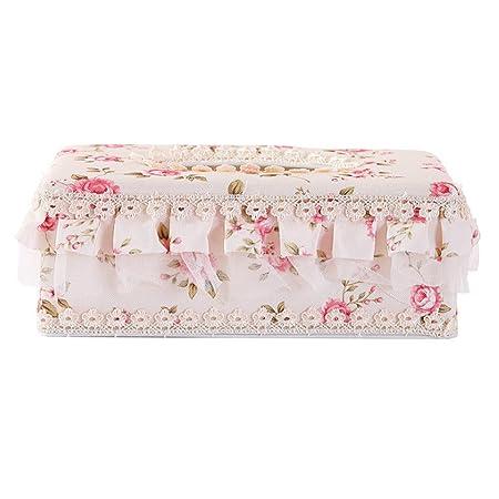 1xtoruiwa Tissue Box Rectangular Lace And Fabric Floral Pattern