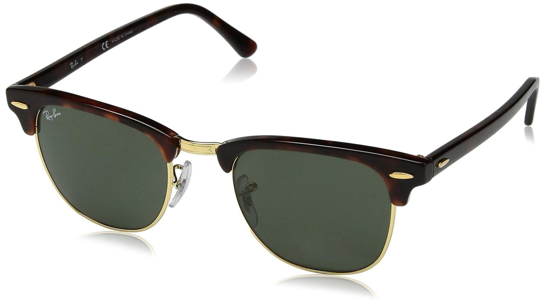 29cad6eda1593 Amazon.com  RAY-BAN Clubmaster Square Sunglasses, Tortoise, 49 mm  Clothing