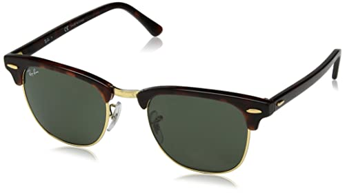 Amazon.com: Ray-Ban RB 3016 W0366 Clubmaster Mock tortuga ...