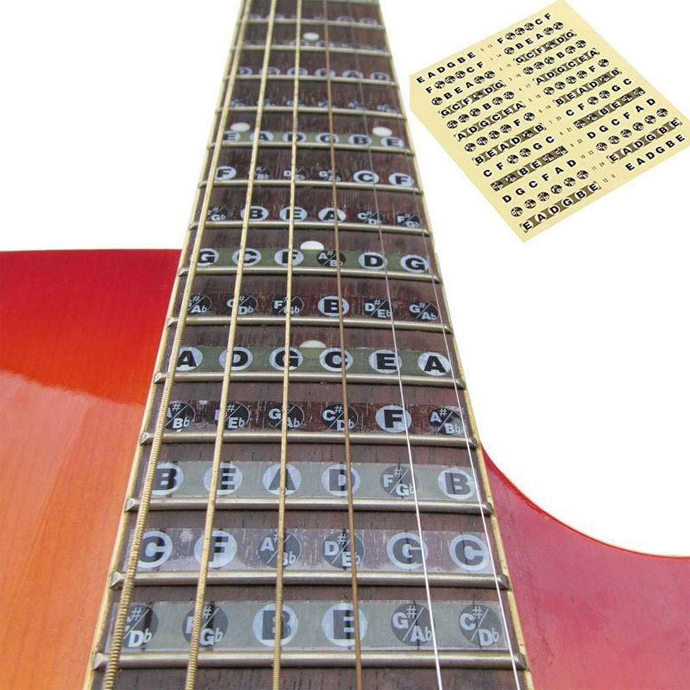 Festnight Chitarra Tastiera Nota Sticker Musical Scale Label Fingerboard Decal Note Mappa Per Strumenti Musicali Decalcomanie Apprendimento
