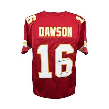 reputable site cc560 b3dbf Len Dawson SBMVP Autographed Kansas City Chiefs Custom Red ...
