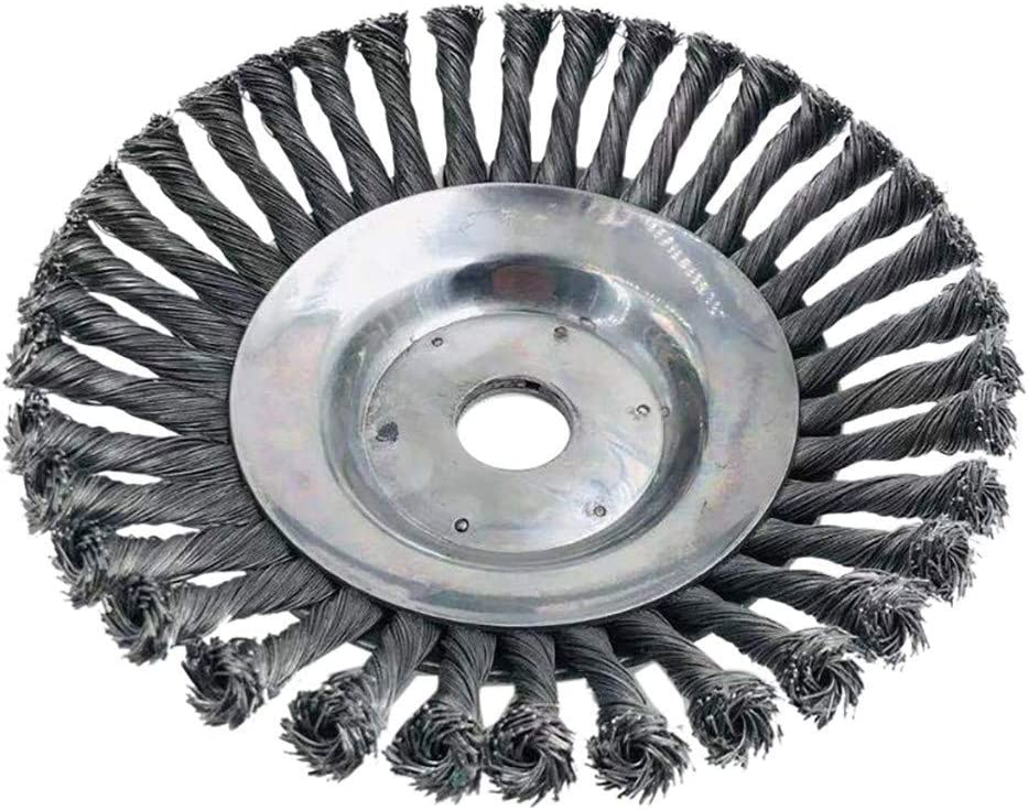 torsion partielle nou/ée outil de nettoyage de brosse /électrique /à roue /à fil de 8 po 200mm trou rond T/ête de coupe-herbe /à brosse en fil dacier acier