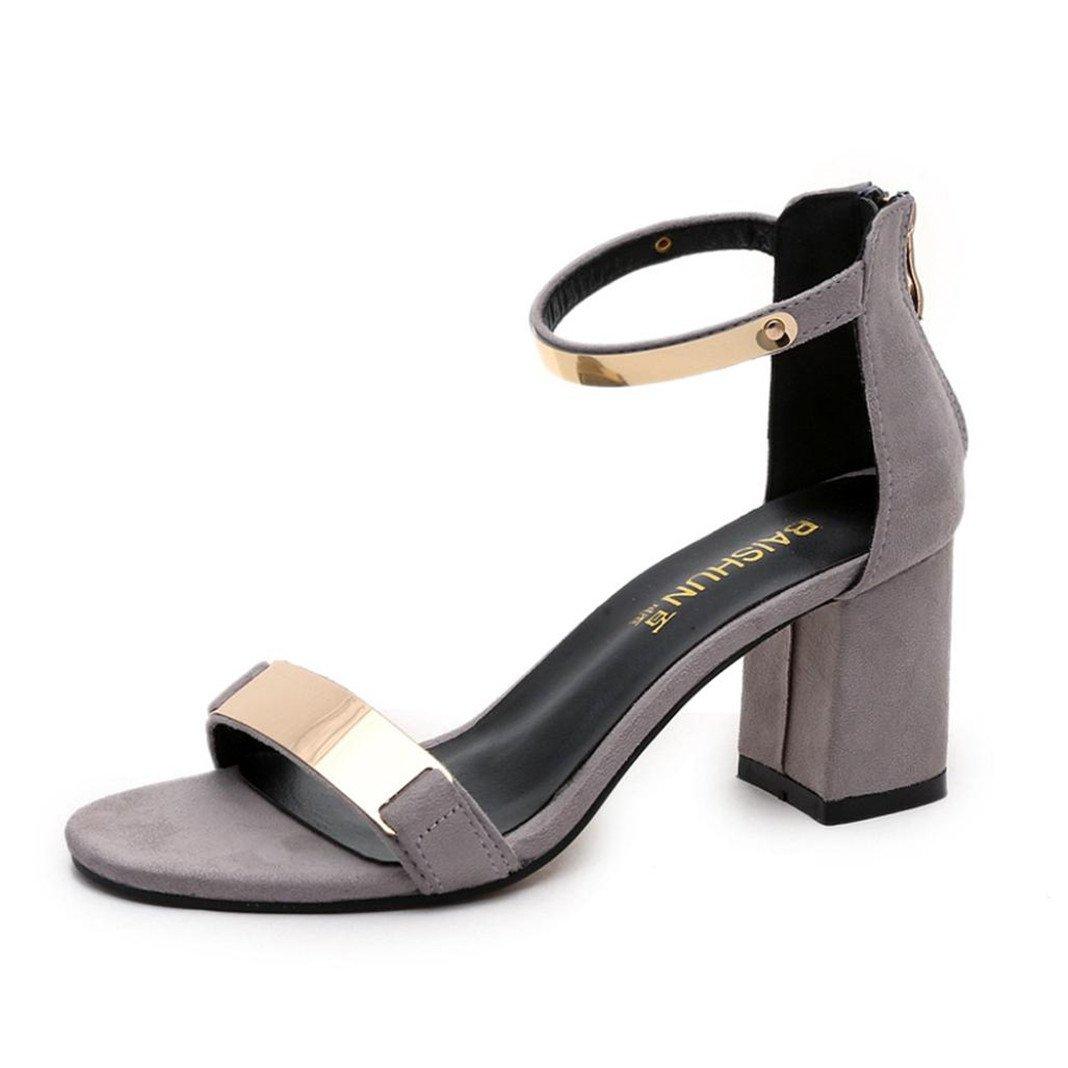 Vovotrade® Sandales B078TMMKZ8 d été Gladiator Open Open Toe Sandales Femme élégant Sandales à Talons épais Gladiator Chaussures Gris 7163023 - gis9ma7le.space