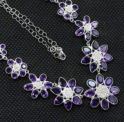 925 Silver Jewelry Set, Amethyst Earring, Amethyst necklace, Amethyst Jewelry, Womens Jewelry Set, Wedding Jewelry, bridal ()