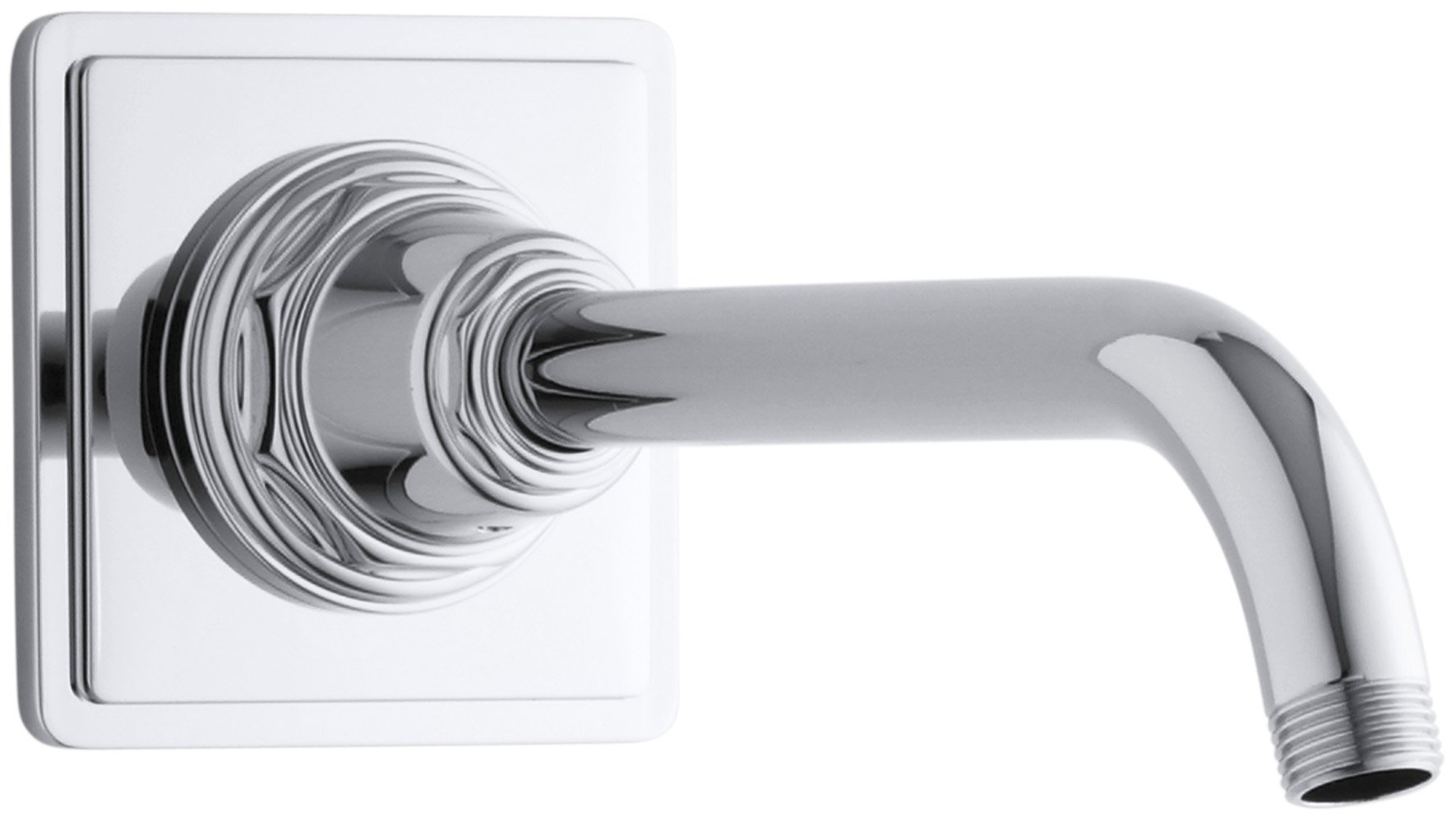 KOHLER K-13136-CP Pinstripe Showerarm and Flange, Polished Chrome