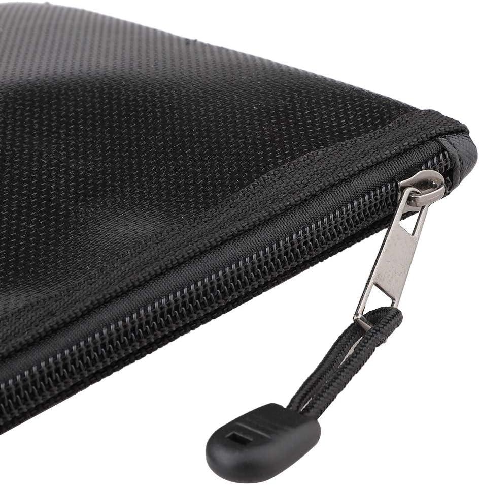 Doolland Fireproof Document Bags Waterproof Bag with Fireproof Zipper for Phone Jewelry Passport Storage 27 16cm