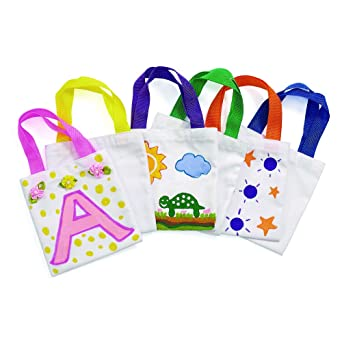 Amazon.com  Colorations Mini Canvas Tote Bags - Set of 24 (Item   LILTOTE)   Industrial   Scientific bc72e605984b